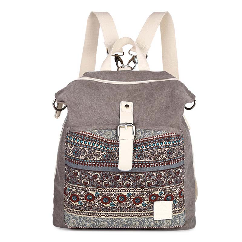 Top Quality Women Canvas Backpack Bookbag Female Dual Purpose Shoulder Bag Daily Travel Backpacks Crossbody Fashion Student Bags