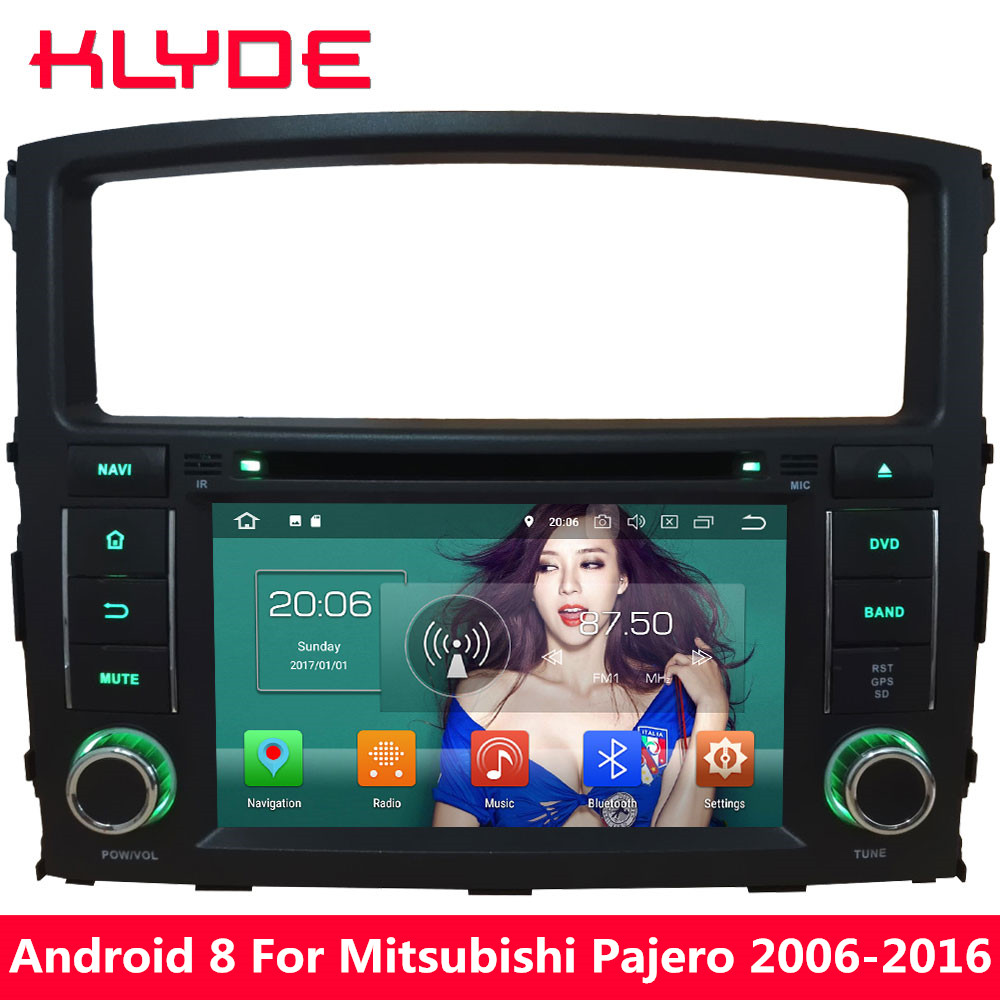 KLYDE 7 ''Octa Core 4 gb RAM Android 8.0 32 gb ROM PX5 4g Voiture DVD Lecteur Multimédia radio Pour Mitsubishi Pajero V97 V93 2006-2016