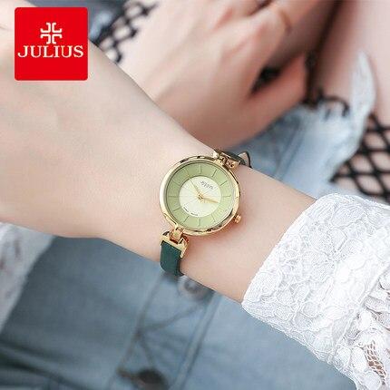 JULIUS señoras reloj estudiantes versión coreana de la moda simple 2018  nuevo impermeable ambiente informal calidad tendencia de las mujeres en  Relojes de ... 3c63bfef5d178