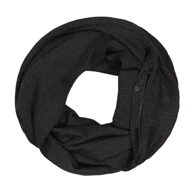 Unisex Winter Solid Wool Warm Loop Scarf Zippered Secret Pocket Shawl Ring Women Printing Scarf Bufanda de las mujeres R29 (3)