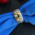 CoLife Jewelry Classic silver ring with 925 stamped genuine citrine ring for woman crystal jewelry new fashion ring