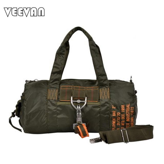 2016 nueva marca de moda de Gran capacidad bolsas de viaje ejército verde y negro bolso Práctico bolso de hombro Inclinado MBBSB00055