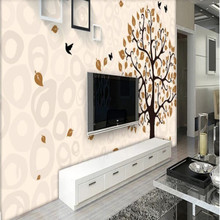 Factory direct modern minimalist beautiful tree flower bird 3D box art sofa, bedroom, living room wall