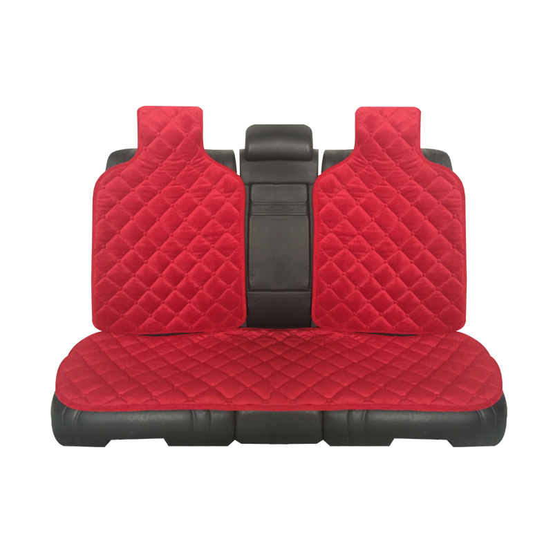 3pcs the back plush car seat covers Material High Quality Velvet Universal size Seat Covers for