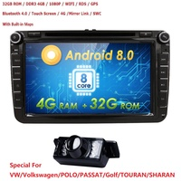 2018 Hot Sale For Vw Volkswagen 2din Android 8.0 Car Dvd Player Stereo Radio Gps For Passat Golf Polo Cc Jetta Skoda Seat 4G+32G