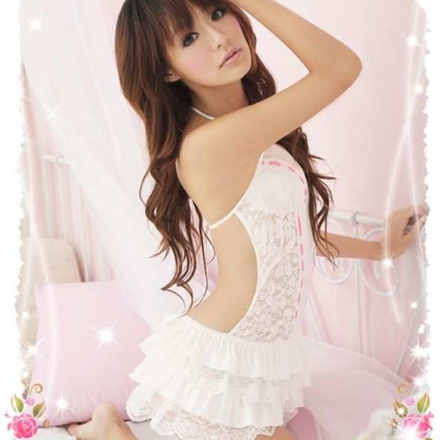 Sexy Costumes Women Erotic Lingerie Hot Dress Set Underwear Backless Lace Clothing Sex Toys Uniform +G-string Exotic Apparel 25 7