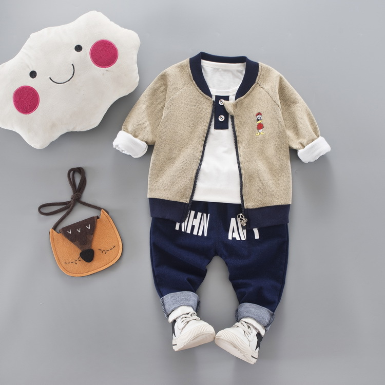 JIOROMY 2019 Çocuk giyim Güz Karikatür Baskı Fermuar Ceket + - Çocuk Giyim - Fotoğraf 5