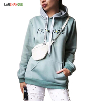 2019 New Friends Printing Hoodies Sweatshirts Harajuku Crew Neck Sweats Women Clothing Feminina Loose Women's Outwear Fall women Sweatshirts & Women Hoodies