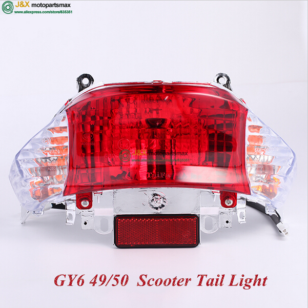 MOTORCYCLE TAIL LIGHT GY6 50 GY6 125 GY6 150 GY6 SCOOTER LIGHT Motorcycle Scooter Moped Parts Tail Light