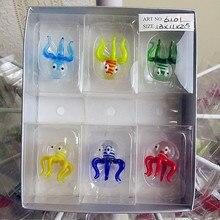 Sell high quality glass Octopus sculpture home desktop decoration, wholesale aquarium colorful accessories