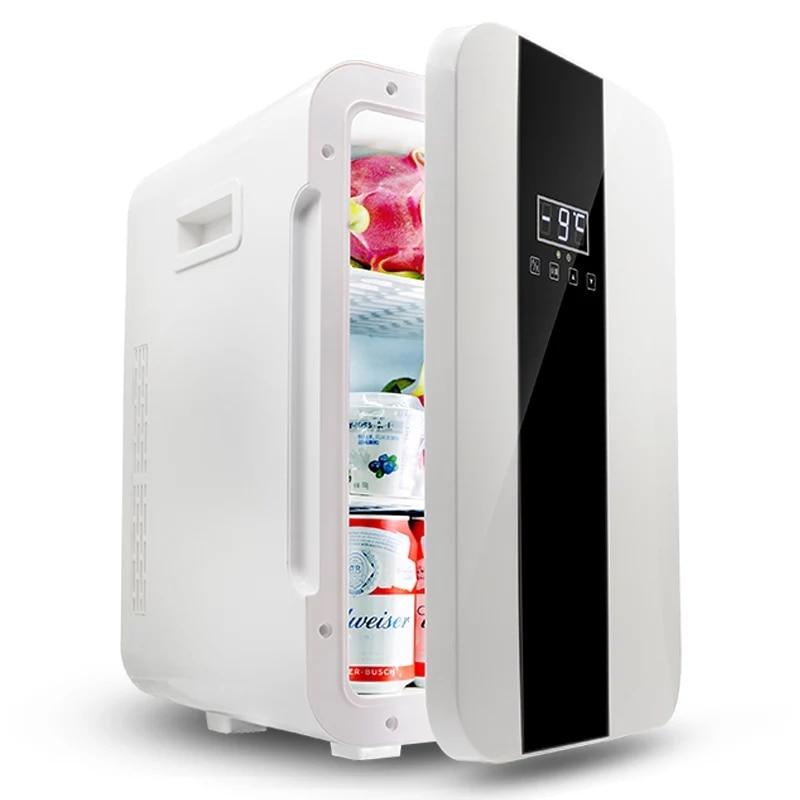 Portable 22L Mini Refrigerator Dual-core 12V /220V Both Car Home Mini Fridge Cooler Box Mini Frigo for Drink Baby Milk portable mini car frigerator 8l cold warm dual use 12v 220v home car mini fridge cooler box mini frigo