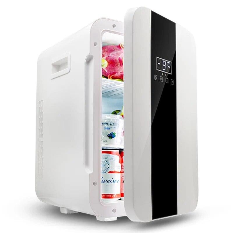 Portable 22L Mini Fridge Refrigerator Dual-core 12V /220V Car Home Freezer Mini Frigo Nevera Icebox Buzdolab Frigobar