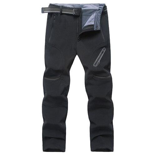 ZOUYU Plus la Taille 7XL 8XL 9XL Hommes Softshell Hiver Pantalon imperm/éable Outwear Polaire Tourisme Montagne Pantalon Homme