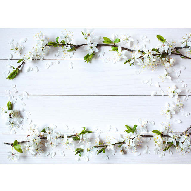 White Wooden Plank Flowers Photographic Backgrounds for Photo Studio Baby Newborn Backdrops for Photo Shootings Goods Cloth Toys
