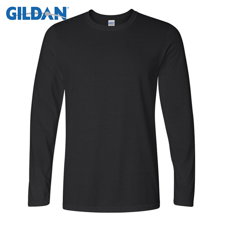 Big Size Cotton T Shirt Spring/autumn Fashion Mens T-shirt Homme Men's Long Sleeved O-neck Solid Color Casual T-shirts Tops Tees