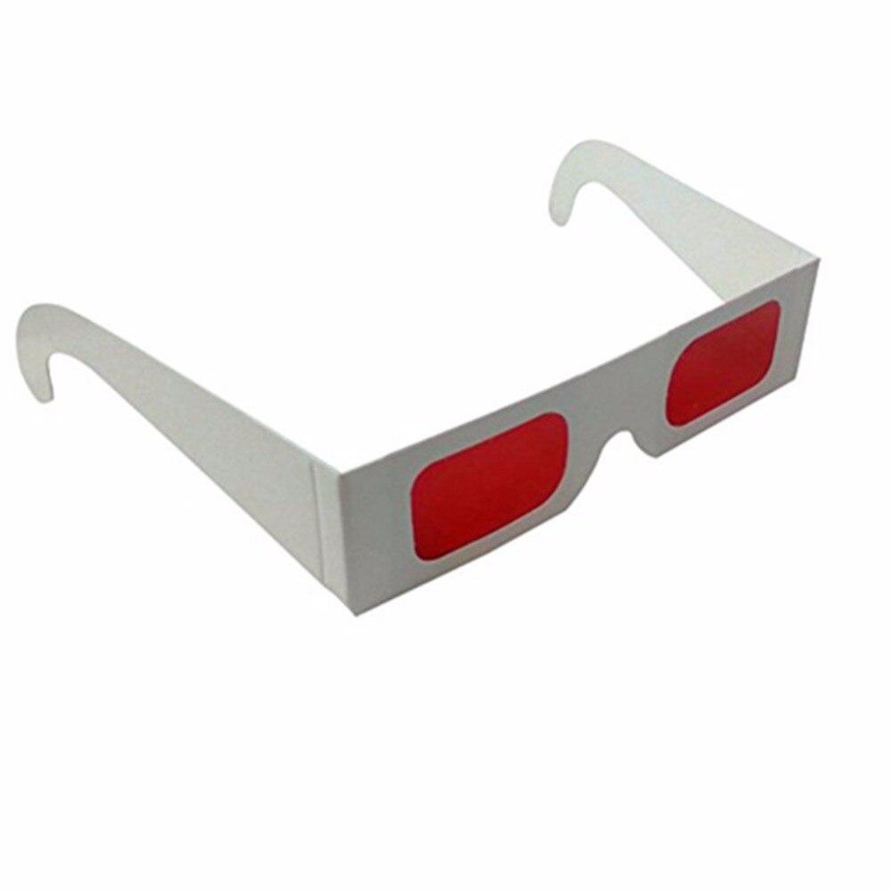 126bebb37 20 pcs Branco Eco Papel Decodificador Lente de Óculos 3d Com Vermelho, Os  Telespectadores Revelam