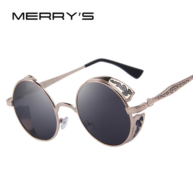 MERRYS Fashion Women Sunglasses Classic Round Shades Brand