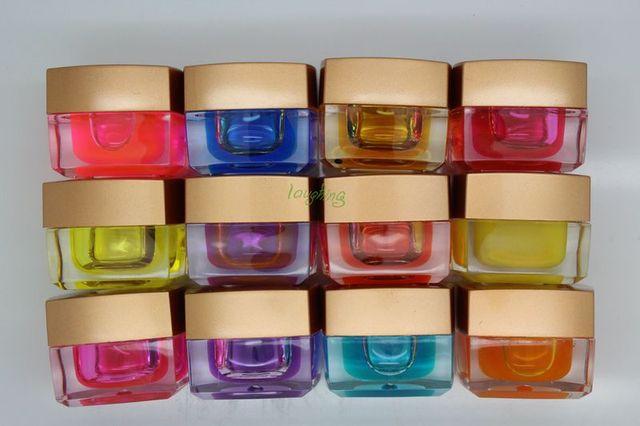 New Arriva 5set /lotl uv gel 12 Colors Hot Sales Transparent Opaque Mix UV Builder Gel Nail Art #3