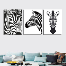 2 pieces cartoon portraits zebra picture printed on canvas painting school children room decoration art wall poster image FA320