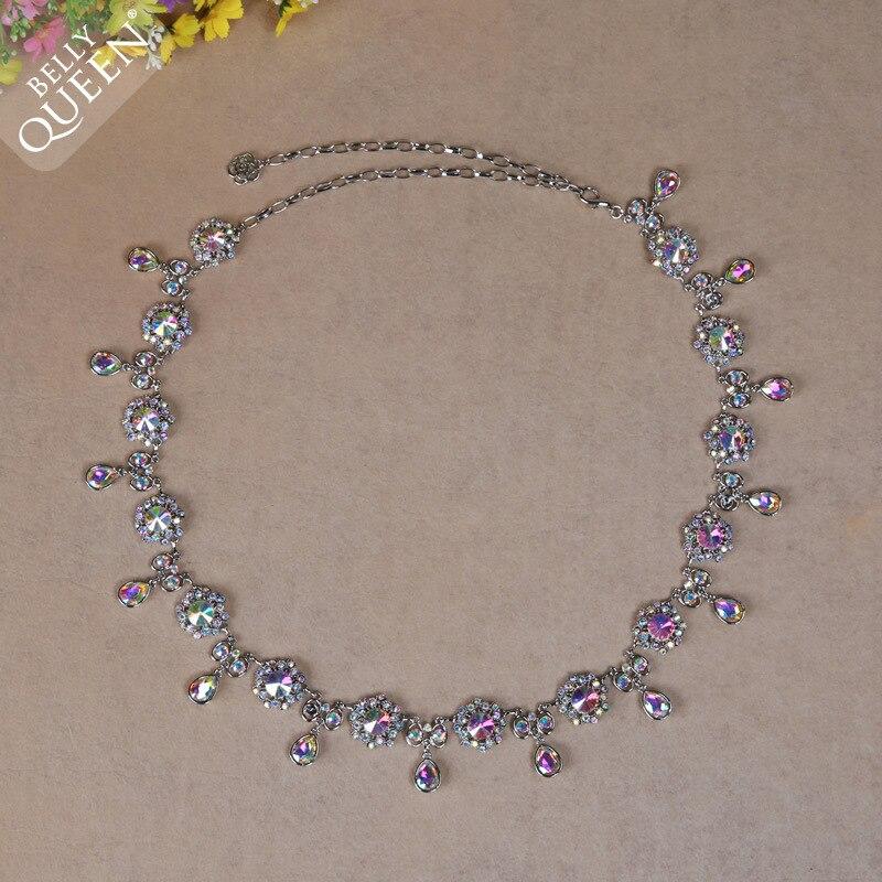 New Belly Dance Womens Crystal Rhinestone Body Jewelry Waist Chain Belt Ladies Dress Decor