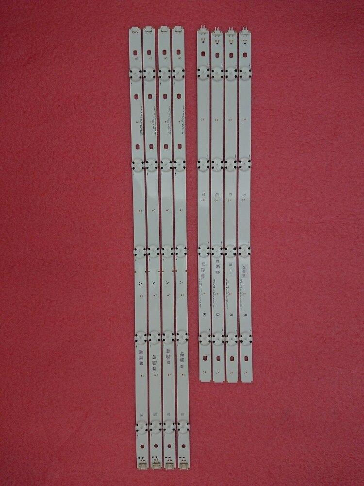 (New Kit) 8 PCS(4*A 4*B)LED Backlight Strip For LG TV 49UF6407 LGE_WICOP_49inch_UHD_REV06_A LGE_WICOP_49inch_UHD_REV06_B NC490DG