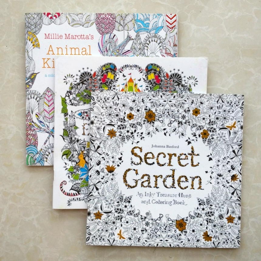 Coloring Books For Adults Secret Garden Animal Kingdom Enchanted Forest 3pcs Lot Libros Adultos Colorear 185x185 Painting Book In From Office