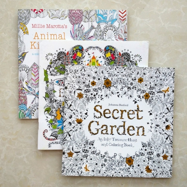 Coloring Books For Adults Secret Garden Animal Kingdom Enchanted Forest 3pcs Lot Libros