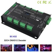 BC-632,32CH DMX-PWM Decoder Controller DC5V-24V Constant Voltage DIM /CT /RGB /RGBW 4 modes switch led Strip driver цена 2017