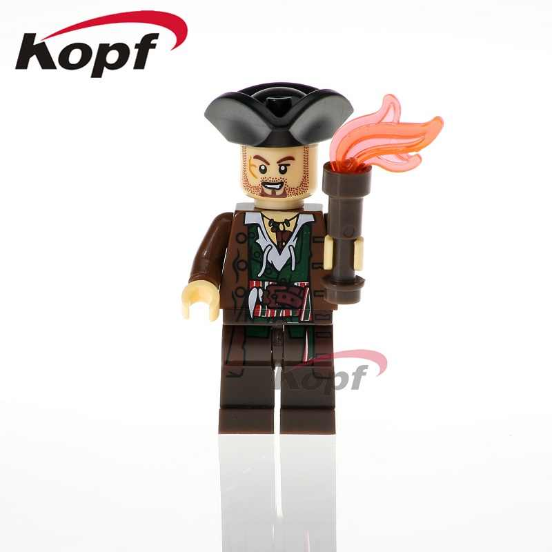 Одиночная продажа Пираты Карибского моря Карина приведение; Зомби капитан полицейский Сантос строительные блоки игрушка-подарок для детей модель XH 612