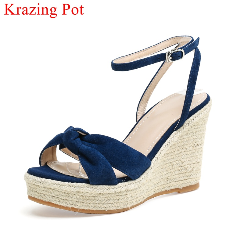 Krazing Pot big size cow leather classic pointed toe back strap fashion runway women sandals shallow