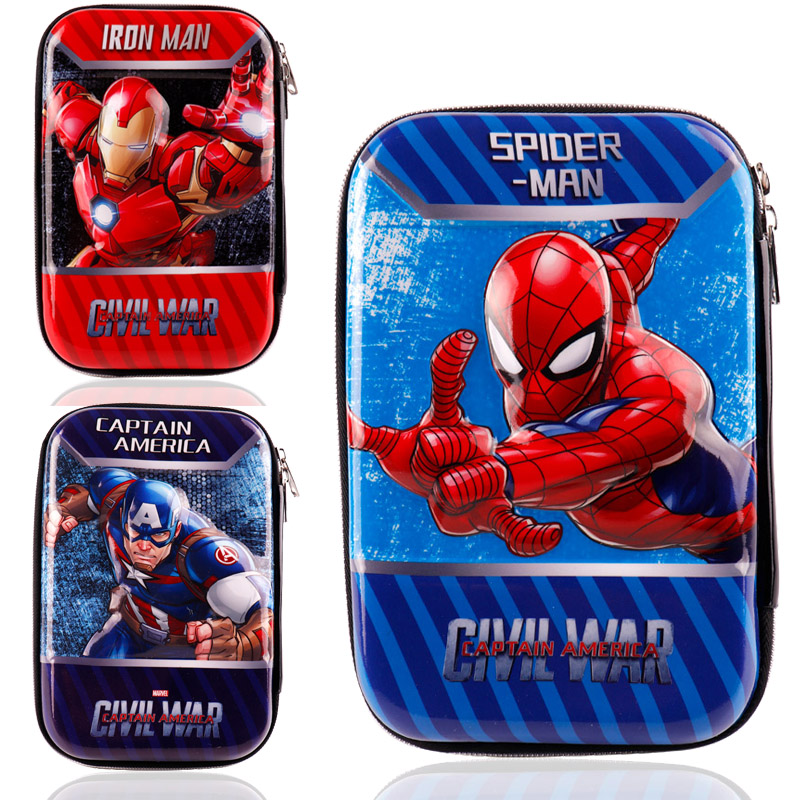 Marvel America Captain Pencil Case Spiderman Storage Students Stationery Pen Box