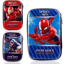 Stationery 3D EVA pencil bag school supplier large super hero ironman captain spiderman avengers case boys kids