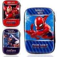 Stationery 3D EVA pencil bag school supplier large super hero marvel spiderman avengers pencil case lápices пенал boys kids