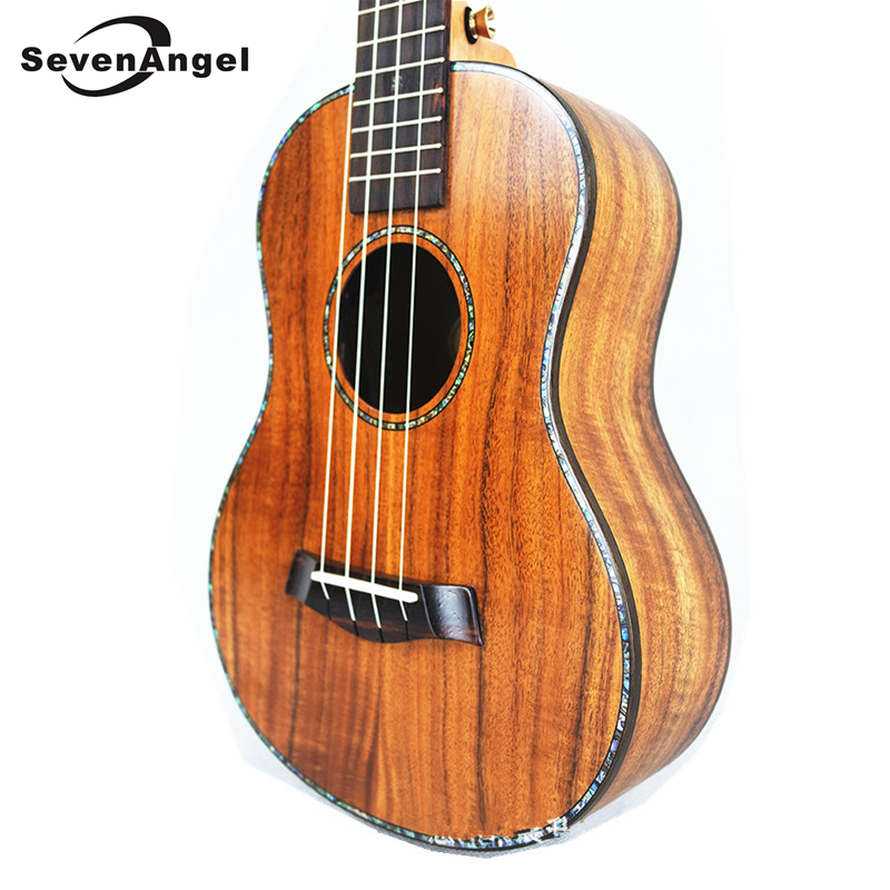 SevenAngel 23 Professional Concert Electric Ukulele All Solid Wood 4 strings Hawaiian Guitar Sweet Acacia wood KOA  Ukelele magnum live in concert