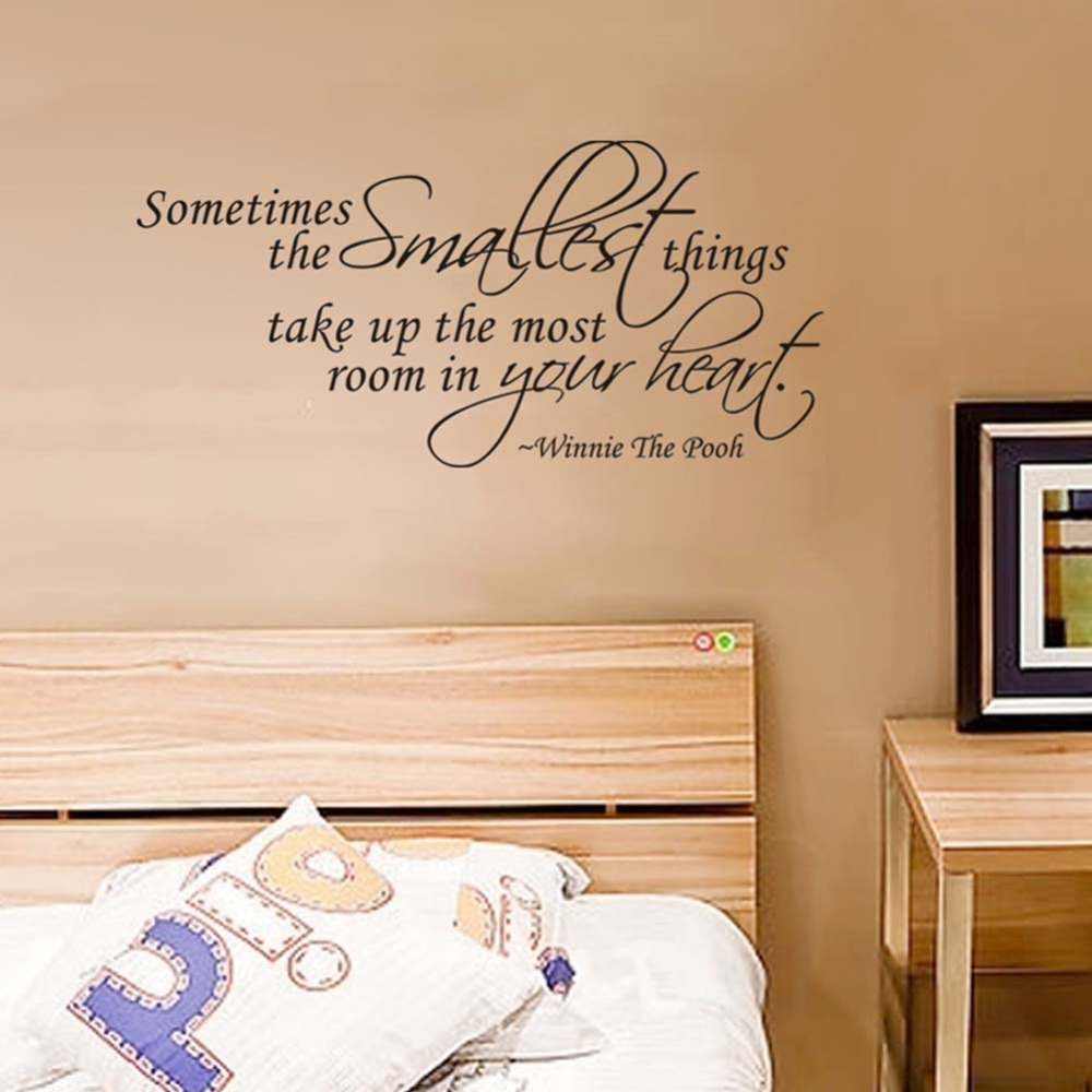 Aliexpress.com : Buy Something Smallest Sticker Winnie The Pooh Quote  Sometimes The Smallest Things Wall Sticker Vinyl Decal Home Decoration From  Reliable ... Part 47