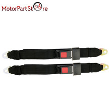 цена на 2 x Universal Black Car Seat Belt Lap Belt Two Point Adjustable Safety