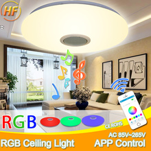 hot deal buy modern led ceiling lights rgb led lamp panel round led ceiling light app remote control bluetooth music light bedroom light