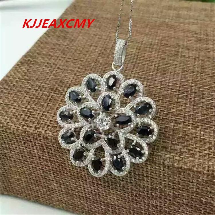KJJEAXCMY boutique jewelry,Female natural sunflower pendants, jewelry wholesale, S925 sterling silver wholesale wholesale