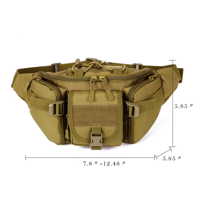 Image 5 - New Men Hip Packs Outdoor Waterproof Bag Male Tactical Waist Bag Molle System Pouch Belt Bagpack Sports Bags Military-in Waist Packs from Luggage & Bags