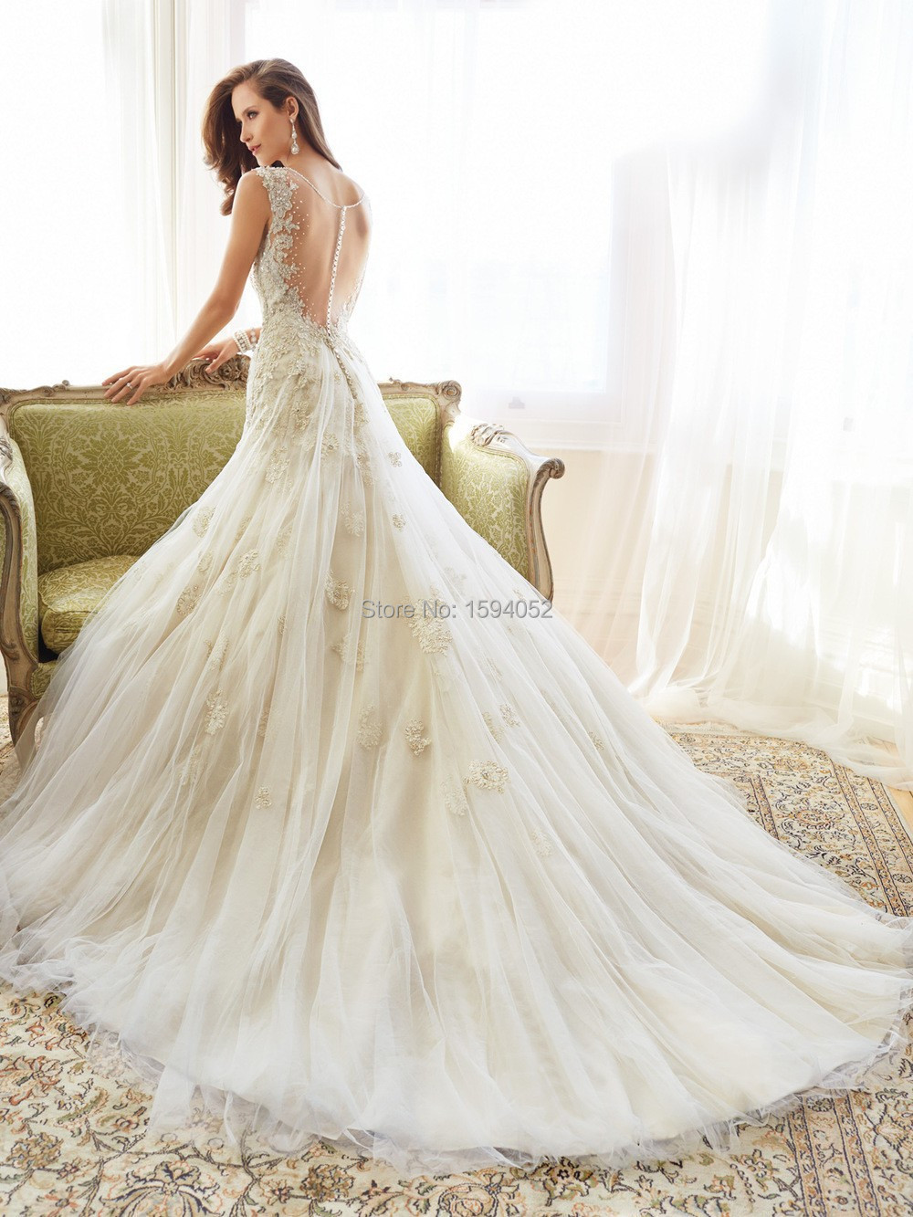 Fishtail Wedding Dress 2015 New European And American Big Shoulders Qi Luxury Long Tail Bride Custom In Dresses From Weddings Events