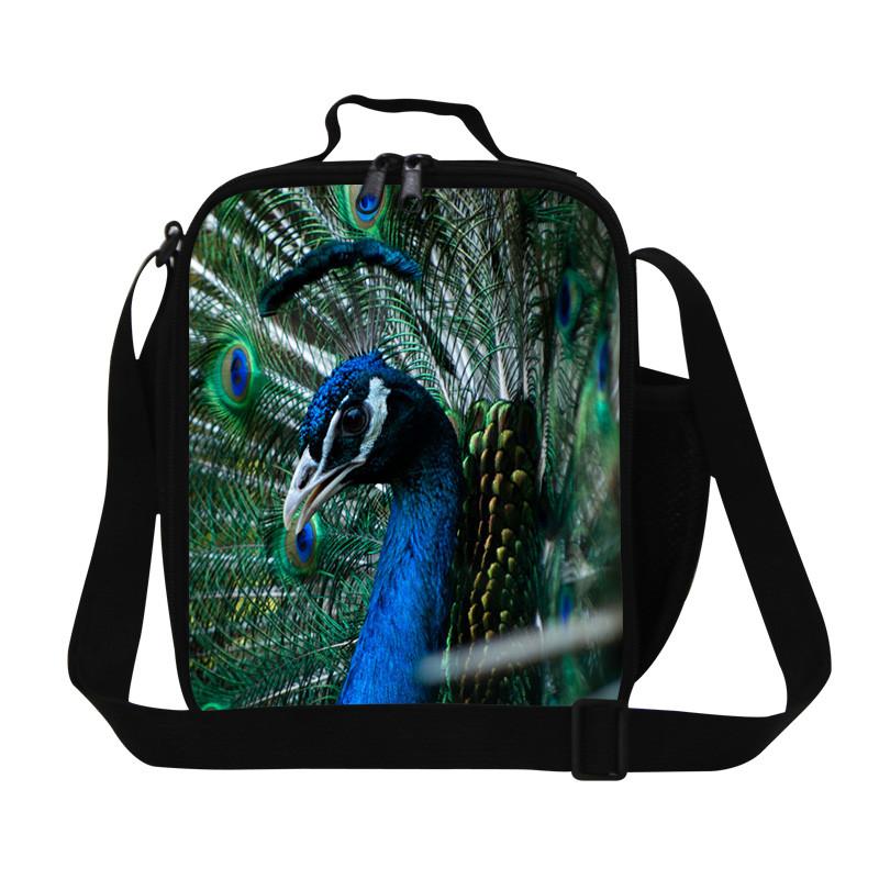 eff3f04e6ec2 Peacock 2015 New Design 3D Animal Print Kids Lunch Bag for Kids Cool Tiger  Head Children