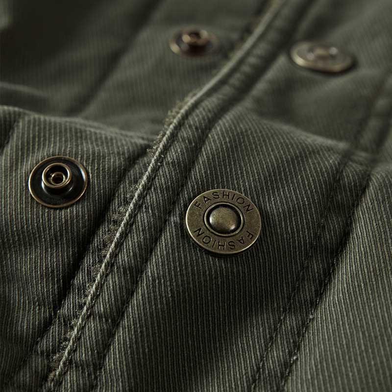 Parka Coton Plus Vêtements Épaissir kaki Nouveau Occasionnel Vestes Green La Taille army Manteaux Au Velours Lâche Black Blue Garder Style Homme Polaire Hommes Chaud Hiver Militaire TF1J35lucK