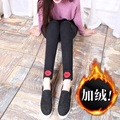 Will fall and winter and velvet thickening outside wear leggings female trousers feet pants show thin pencil pants