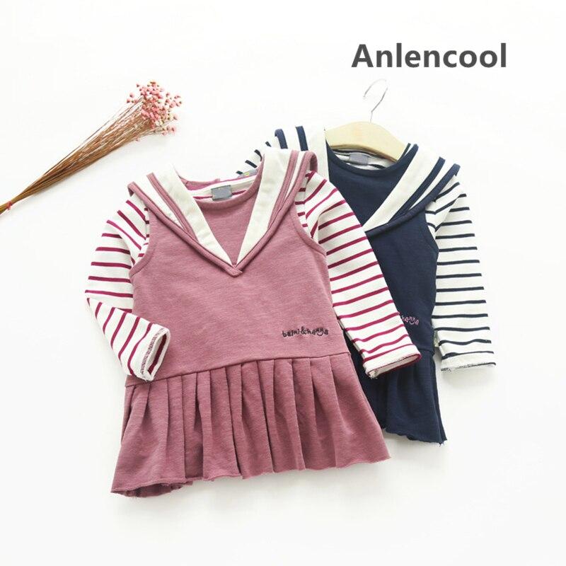 Anlencool Girls 2 Pcs Set Blue Layered Tutu Dress Sets Clothing Sets cartoon clothing Baby girls clothing sets girls clothes стоимость