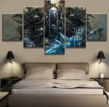 5 Piece Home Decor Warcraft Guldan Game Paintings on Canvas Wall Art for Decorations Unique Gift Picture