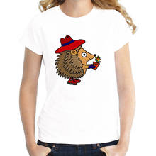 Fashion T Shirt Tee O-Neck Short Sleeve 2018 Womens Hedgehog  Shirts