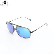 EE Polarizada Óculos de Sol Da Moda Estilo Óculos De Sol Para Homens UV400 Vintage Marca Designer Oculos de sol Masculino