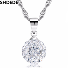 SHDEDE CZ Crystal from Swarovski Ball Pendant Necklaces For Women Vintage Fashion Jewelry Mothers Day Gift Luxury Noblest +58