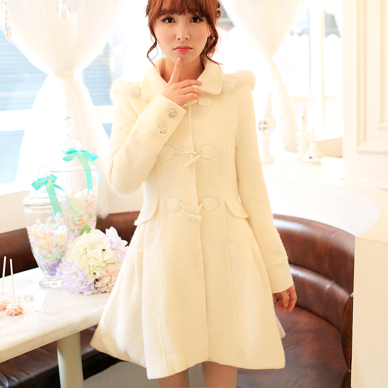 Jackets & Coats Discreet Princess Sweet Lolita Coat Flower Uncle Flash Hat Collar Horn A Word Of Tall Waist Long Woollen Overcoat Uf79