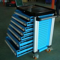 Automative Storage Tool Box Mobile Tool Trolley Metal Toolbox 7 Drawers With 255 units Tools